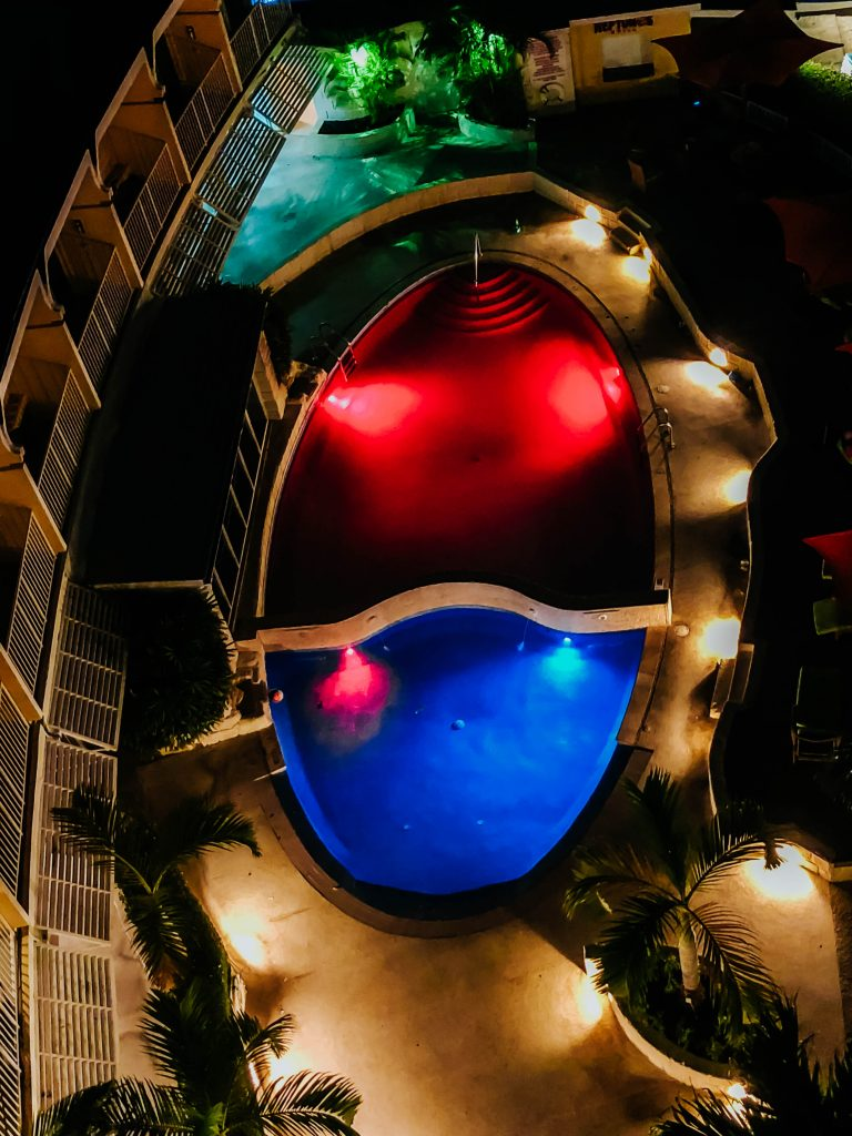 Radisson Aquatica Barbados Pool at Night